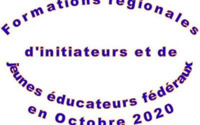 Formation d'initiateurs et de jeunes éducateurs fédéraux en octobre 2020